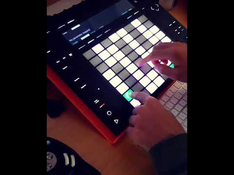 """""""Fear Inoculum"""" Tool Bass Cover Excerpt on Ableton Push - Instagram Post"""