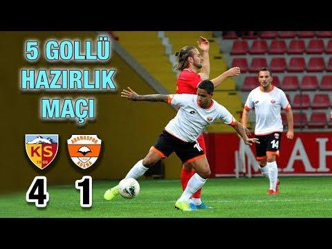 Kayserispor Adanaspor Hazırlık maçı özeti, goller izle 4-1