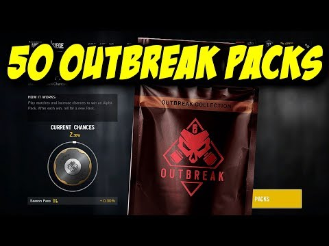 Rainbow Six Siege All 50 OUTBREAK PACKS OPENING R6 Legendary Epic Rare Elite Uniform
