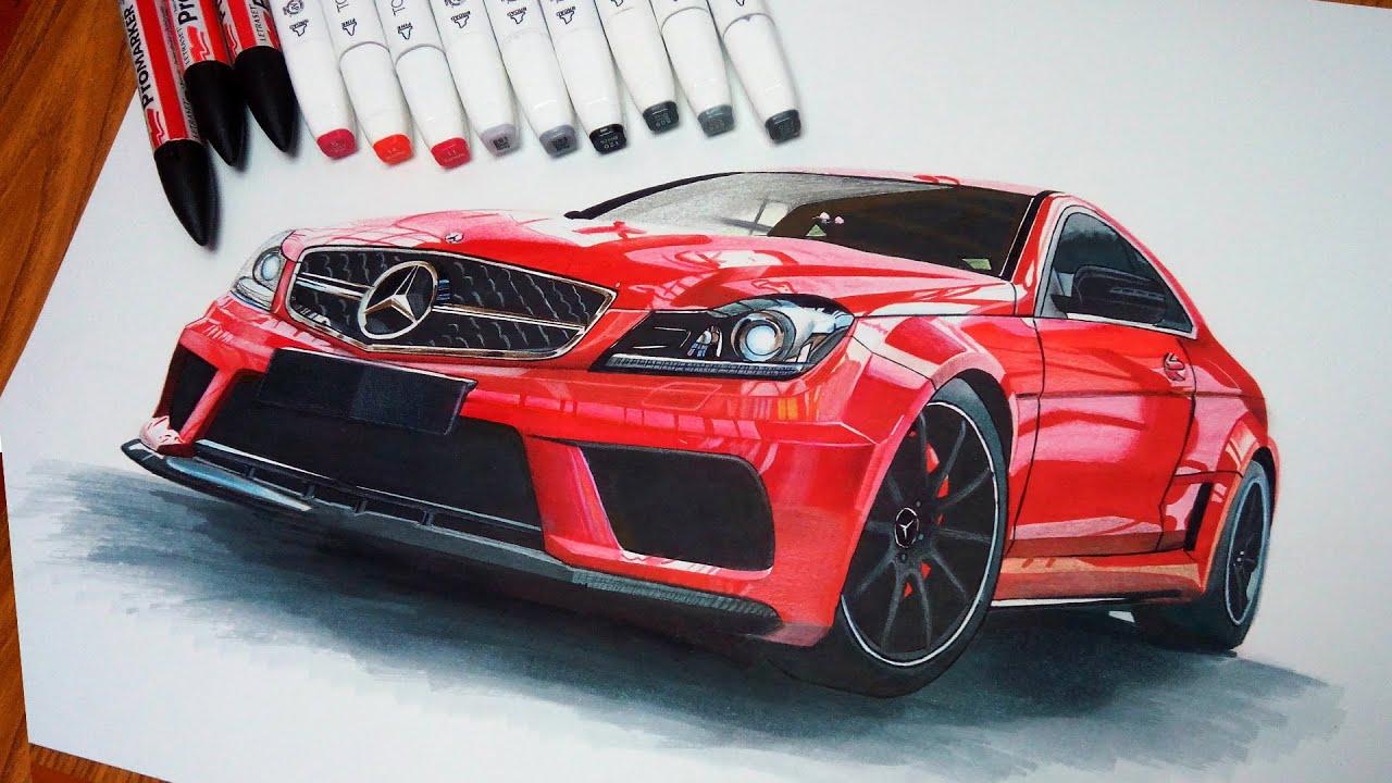 Mercedes C63 Amg Car Drawing