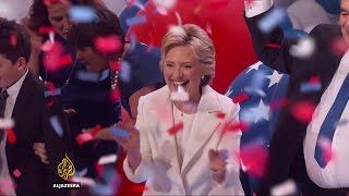 US election: Hillary Clinton accepts Democratic nomination