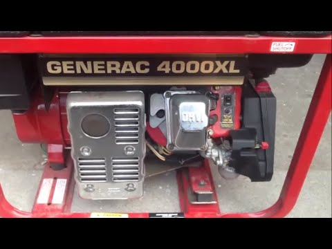 GENERAC 4000XL GENERATOR, Review & Operation - YouTube