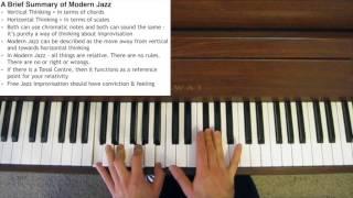 A Brief Summary of Modern Jazz
