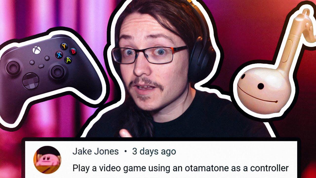 Using an Otamatone as a Video Game Controller