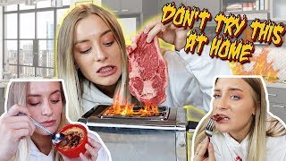 COOKING MYSELF DINNER...with a twist | Katelyn Fitch