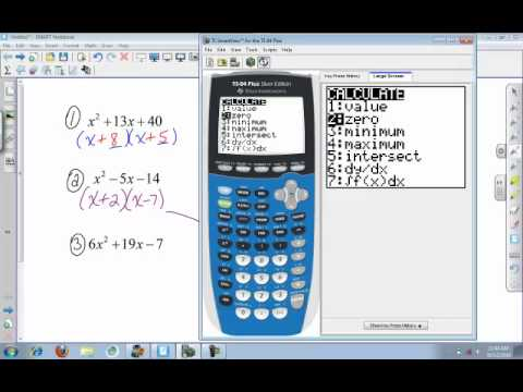 Calculator (college algebra): Factoring using the TI 84 - YouTube