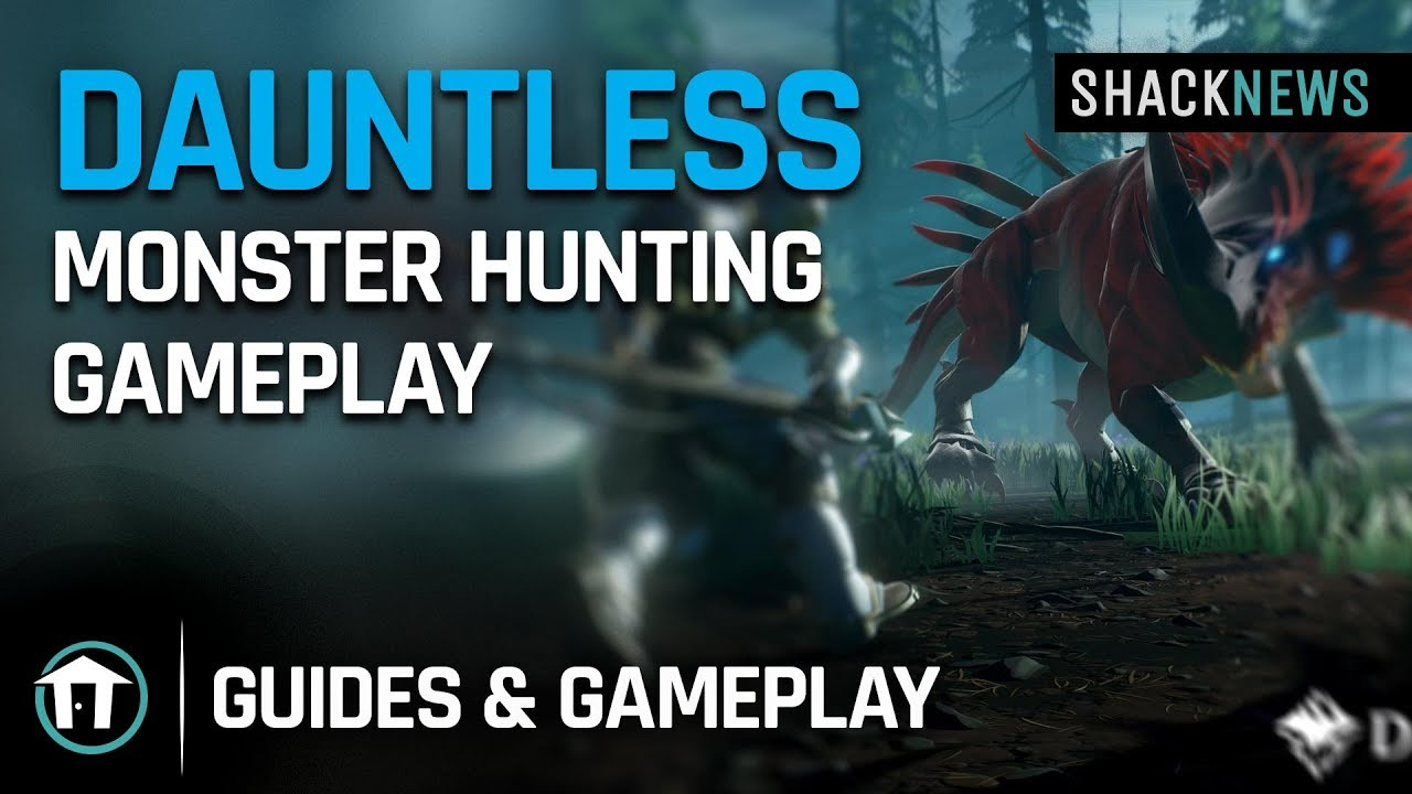 Dauntless monster hunting Xbox One X gameplay video | Shacknews