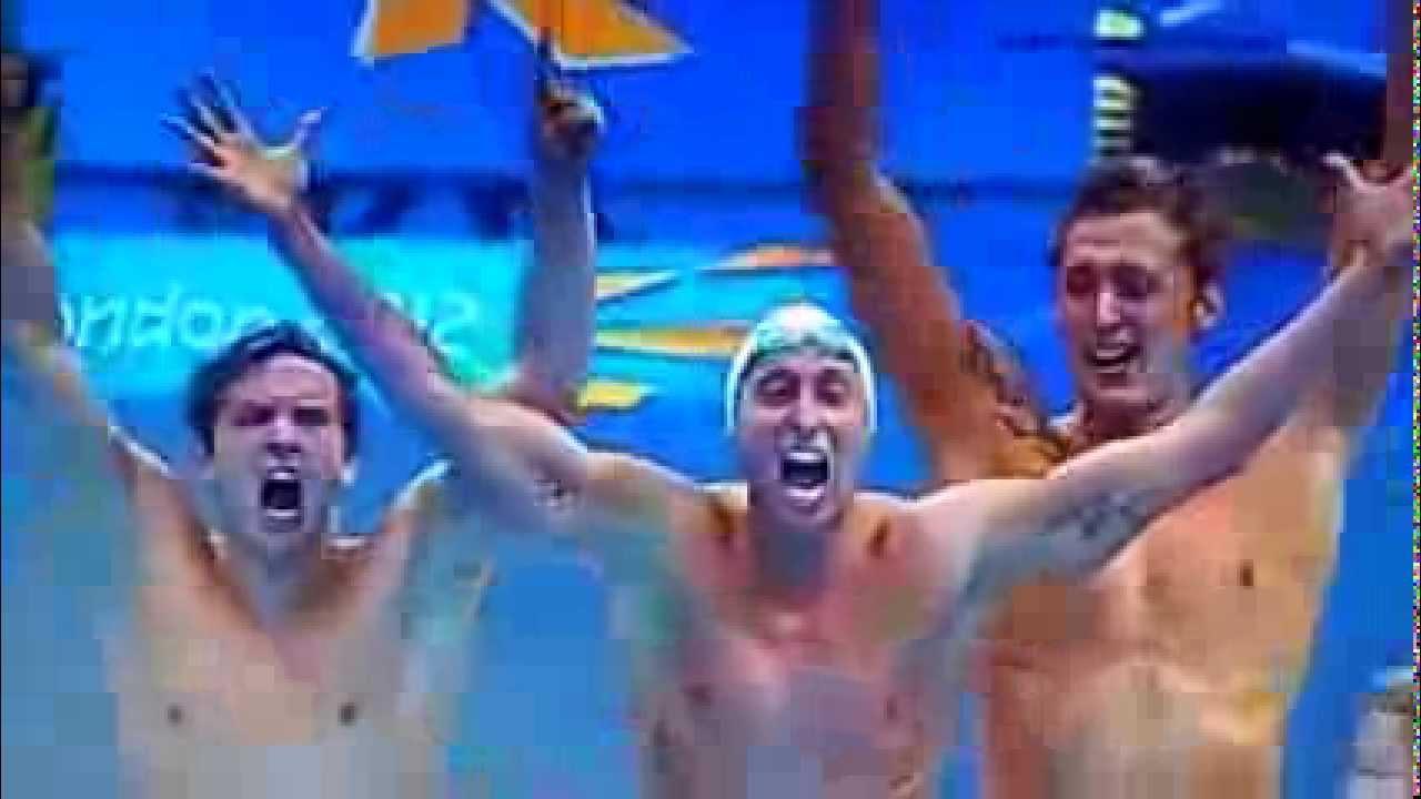Finale relais natation 4x100m JO london 2012 ᴴᴰ