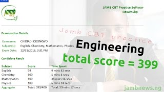 JAMB 2018 Mock: Unilorin Engineering Aspirant Scores 399
