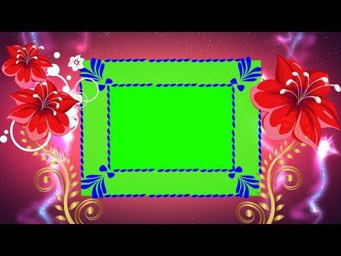 Beautiful flower frame background for wedding mixing full hd | DMX HD BG 180 thumbnail
