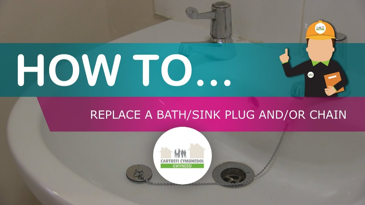 How to replace a bath/sink plug and/or chain - YouTube