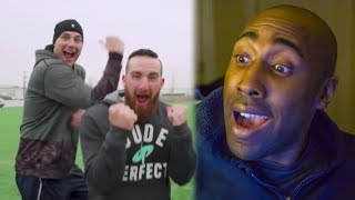 Football vs Soccer Trick Shots ||  (Dude Perfect Reaction)