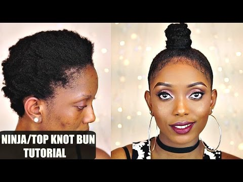How to Ninja Top Knot Bun Tutorial