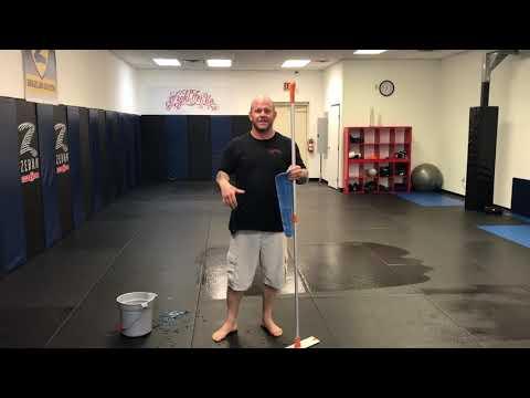 Brazilian Jiu Jitsu for Beginners - Cleaning the BJJ mats