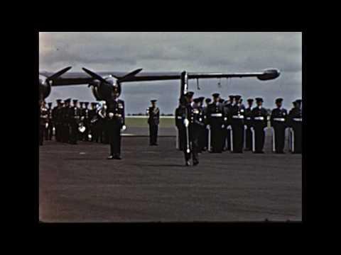 RAF St Mawgan 42 Squadron colours Queen's visit 1964