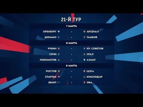 Тинькофф Российская Премьер-Лига. Обзор 21-го тура