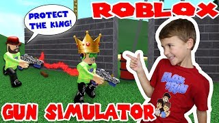 ROBLOX GUN SIMULATOR / PROTECT THE KING SIMAS!