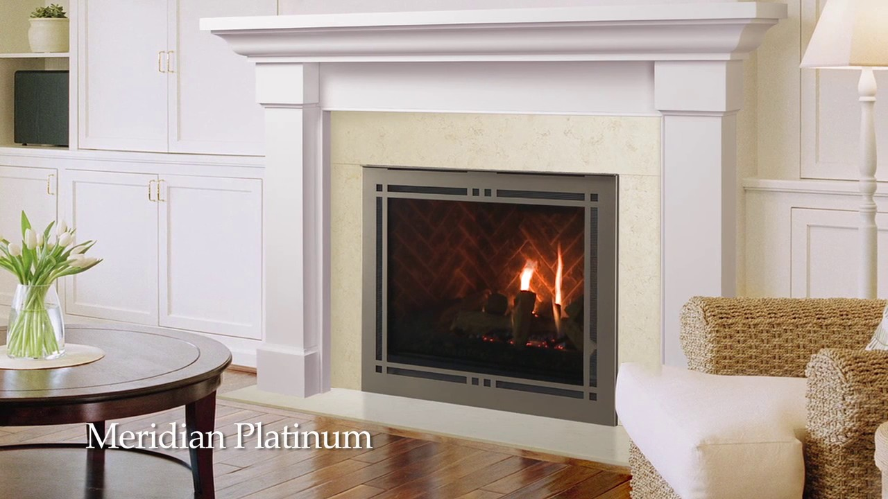 majestic meridian series gas fireplace youtube