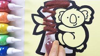 Cute Koala coloring & drawing & studying English for kids ㅣ 귀여운 코알라 그리기 색칠하기 영어 공부