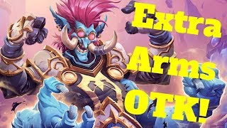Extra Arms OTK! Unidentified Elixir Stonetusk Boar Combo! [Hearthstone Game of the Day]