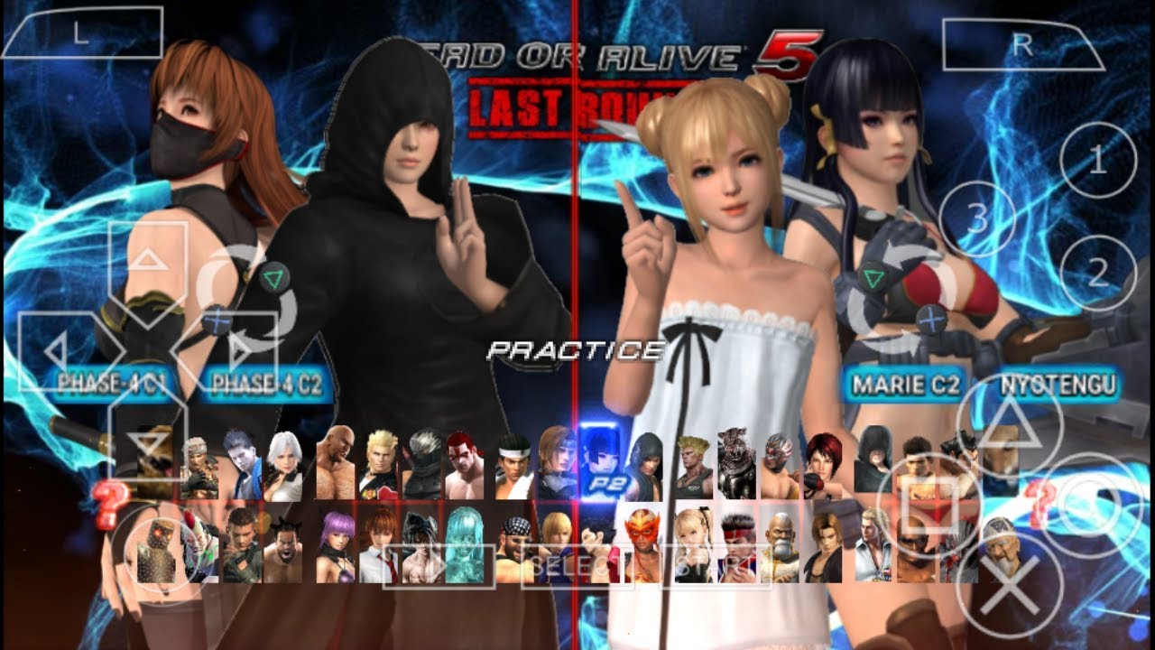 Dead or Alive 5 Last Round PPSSPP Android (New Update)