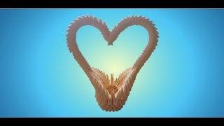 3D Origami Heart Basket Tutorial