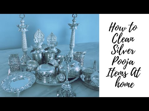 How to Clean Silver items at home | Easiest way to clean Silver