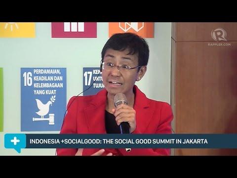 Maria Ressa on journalism, crowdsourcing & social good (Bahasa)