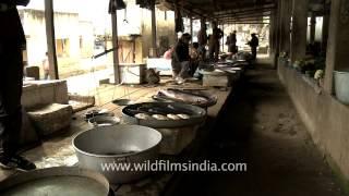 Senapati market selling fish, Manipur