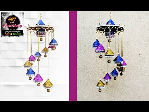 Newspaper wall hanging | Newspaper wind chime | best out of waste | Art with Creativity