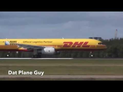 RARE DHL Tasman Cargo Airlines Boeing 757-236 Takeoff Brisbane Airport