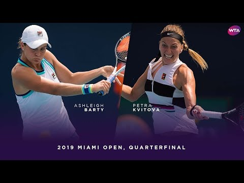Ashleigh Barty vs. Petra Kvitova | 2019 Miami Open Quarterfinal | WTA Highlights