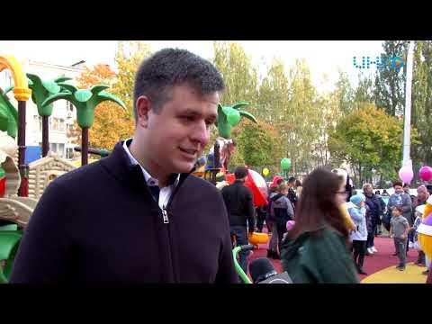 Новая детская площадка в Луховицах.