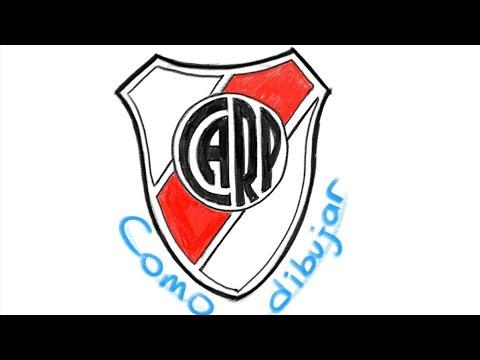 Cómo Dibujar El Escudo De River Cómo Dibujar El Logo De River Plate Youtube