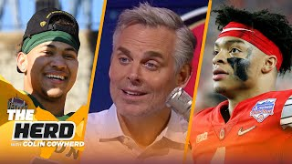 Trey Lance was the right move for 49ers, Bears are great for Justin Fields — Colin | NFL | THE HERD
