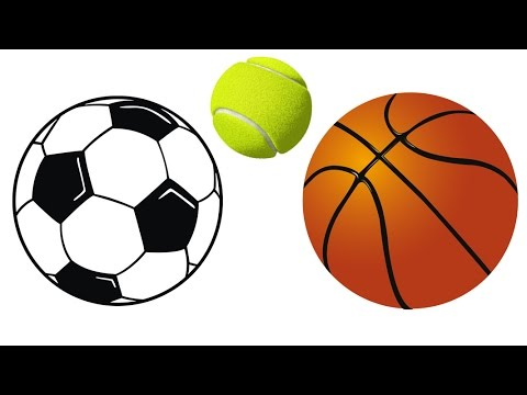how to draw soccer ball basketball tennis ball easy drawing for kids step by step - Easy Sports Drawings