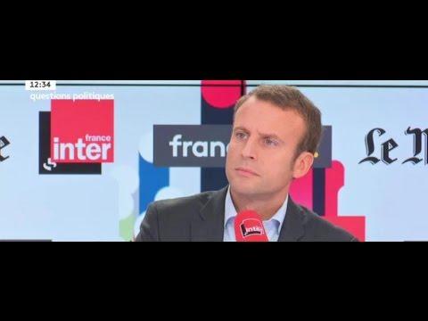 Emmanuel Macron sur Questions politiques (France inter / France Info)