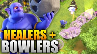 Clash of Clans – ALL HEALERS + BOWLERS! THE WORLDS WORST BOWLER ATTACK! (CoC Epic Bowler Fail)