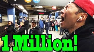 1 MILLION SUBSCRIBERS CELEBRATION in Public!!!  (MILLY ROCK)
