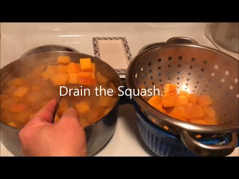 Freezing Butternut Squash - Learn to Preserve in Less Than Two Minutes!