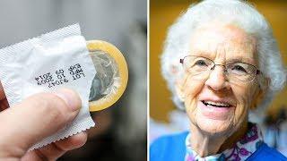 81-jährige Dame will Kondome kaufen - die Kassiererin  fällt in Ohnmacht, als sie erklärt, warum 😂