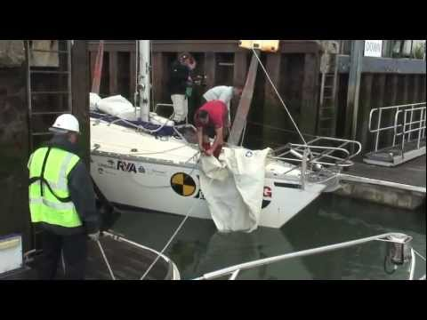Yachting Monthly's Crash Test Boat is holed Part 1