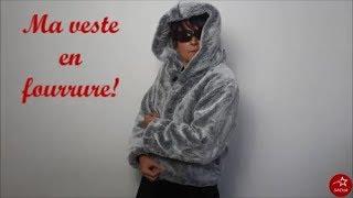 Coucou les fans de couture :) Pour cet hiver ou pour le fun je vous propose une veste en fourrure et à capuche :) Bon c'est de la fausse mais c'est super sympa ...