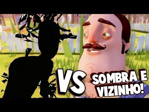 SOMBRA VS VIZINHO!!! A ÚLTIMA BATALHA! O VIZINHO FOGE PARA A CAVE?! | Hello Neighbor (FIM?)