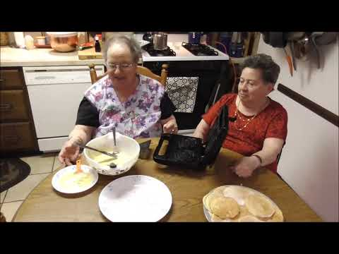 Angie and Rose make Pizzelles