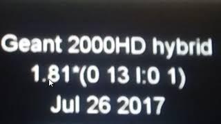 Geant 2000hd hybrid تفعيل سيرفر المجاني