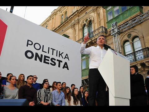 Protest 'against corruption' in Valletta 06.03.16