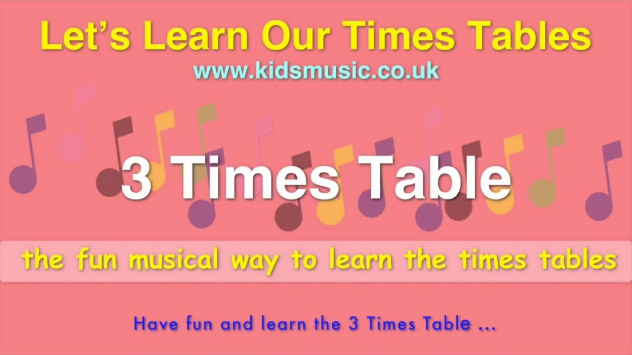 Kidzone lets learn our times tables 3 times table youtube kidzone lets learn our times tables 3 times table gamestrikefo Choice Image