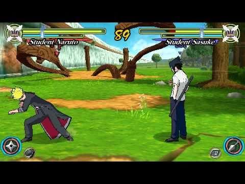 Naruto Ultimate Ninja Heroes(PSP): Team 7 vs Kakashi and Guy