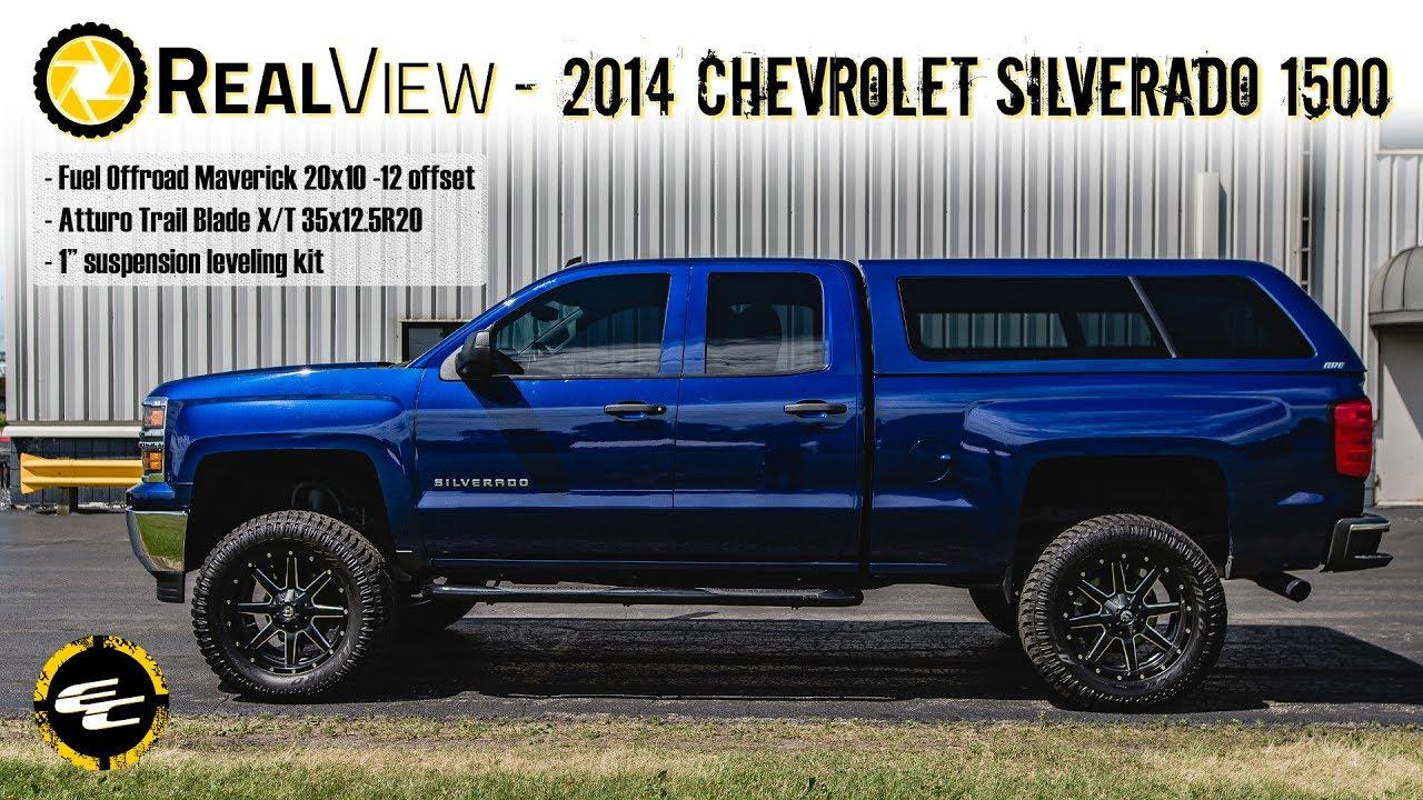 "Silverado Leveling Kit Before And After >> RealView - Leveled 2014 Chevy Silverado 1500 w/ 20"" Fuel Mavericks & 35"" Atturo Trail Blade X/Ts ..."
